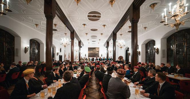 Jubiläumsfeier 200 Jahre Burschenschaft in Freiburg im Kaisersaal des Historischen Kaufhauses in Freiburg