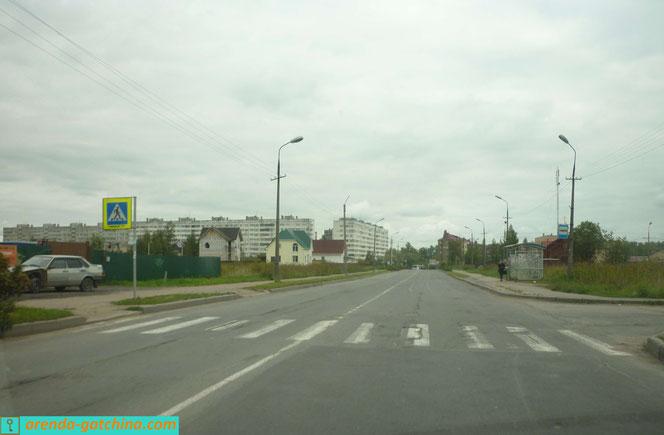 Садовая улица в городе Коммунаре