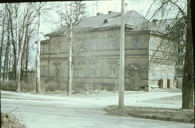 Карла Маркса 59 в Гатчине. Фото 1973 года.