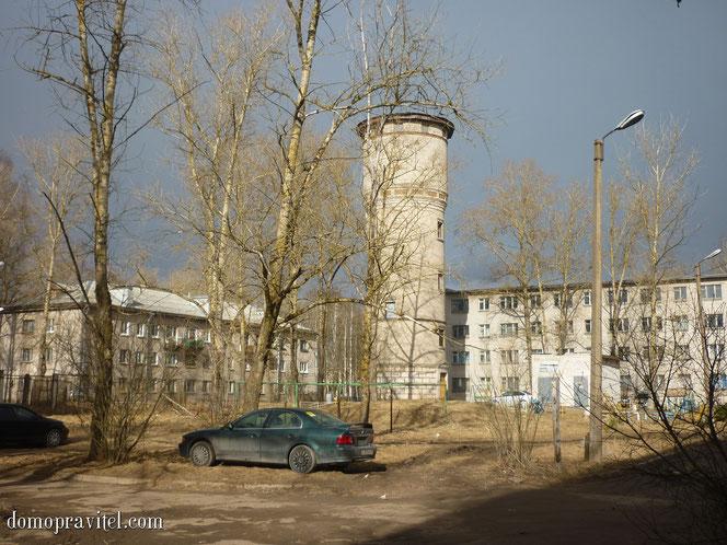 Водонапорная башня в Новом Учхозе