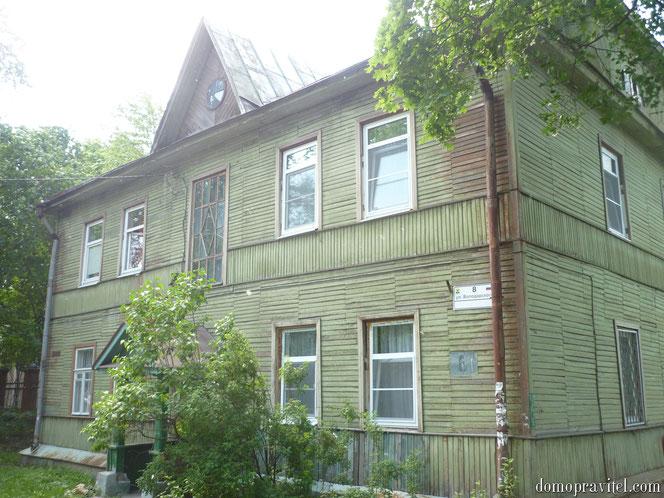 Дом на Володарского 8 в Гатчине до капремонта