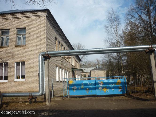Детский сад на территории военного городка в Н.Учхозе.