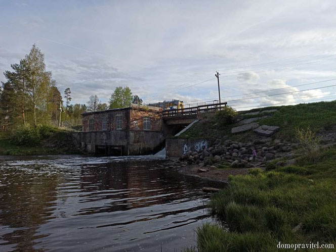 Плотина ГЭС в Вырице