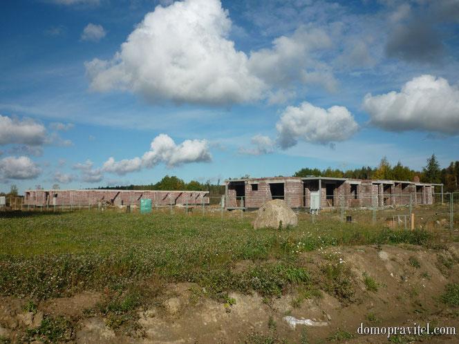 Строящиеся дома в жилом квартале Ванино (Узигонты), сентябрь 2015