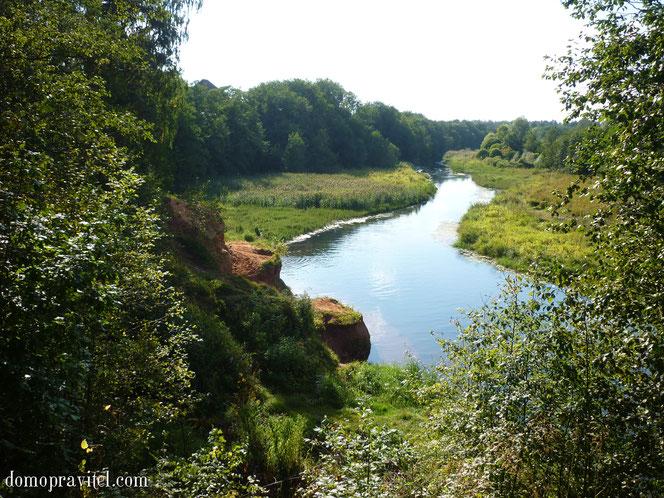 Река Оредеж в поселке Сиверский
