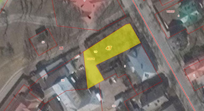 Банный переулок 5, кадастровая карта
