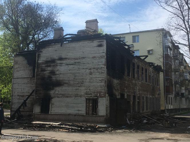 Пожар на Киргетова 11 в Гатчине