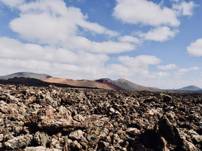 Vulkane undLavaberge auf Lanzarote
