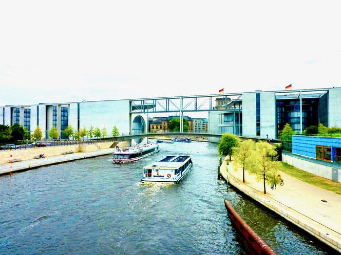 Berlin, Spreebogen, regierungsgebäude