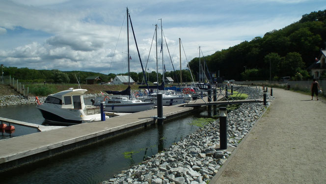 Hafen Wapnica am Stettiner Haff