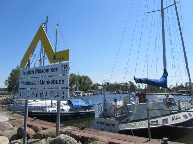 Hafen an der Ostsee Stettiner Haff Mönkebude