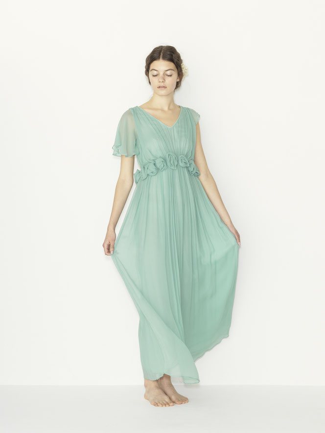 nd-612/26 silk yoryu corsage cape color dress