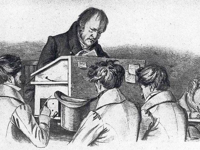 Hegel a lezione