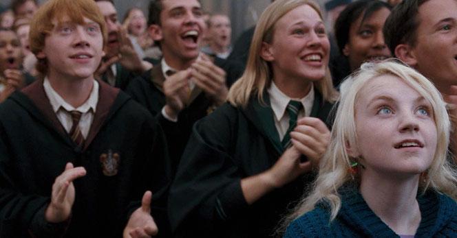 "Rupert Grint (Ron Weasley et Evanna Lynch (luna Lovegood) dans ""Harry Potter et l'Ordre du Phénix"""