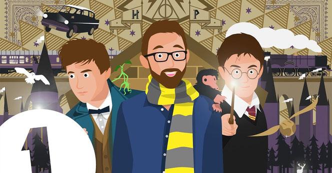 """Le documentaire s'intéresse à la saga """"Harry Potter"""" comme à la saga """"Les Animaux Fantastiques"""" (BBC Radio 1)"""