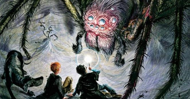 Une nouvelle illustration d'Aragog par Jim Kay
