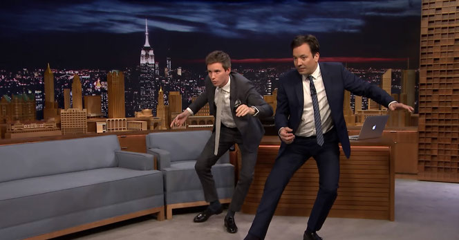Eddie Redmayne et Jimmy Fallon (The Tonight Show - 9/11/2016 - NBC)