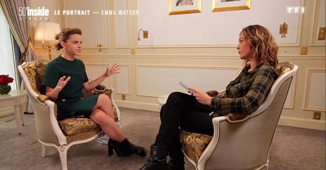 "Emma Watson interviewée par Sandrine Quétier (""50 min Inside"" du 04/03/2017 - TF1)"
