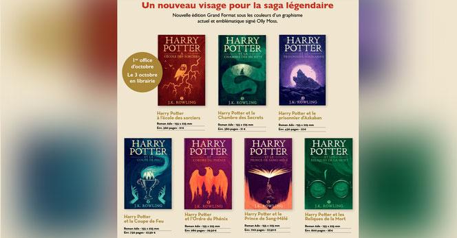 Les sept nouvelles couvertures de l'édition Grand Format de Gallimard qui sort le 3 octobre 2016