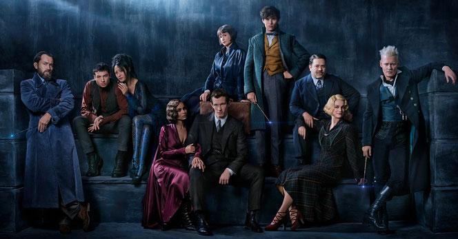 Les personnages principaux de ce deuxième film (Les Animaux Fantastiques : Les Crimes de Grindelwald - 2018)