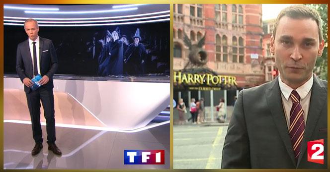 Julien Arnaud, du 20h de TF1, et Loïc de la Mornais, envoyé spécial de France 2 à Londres