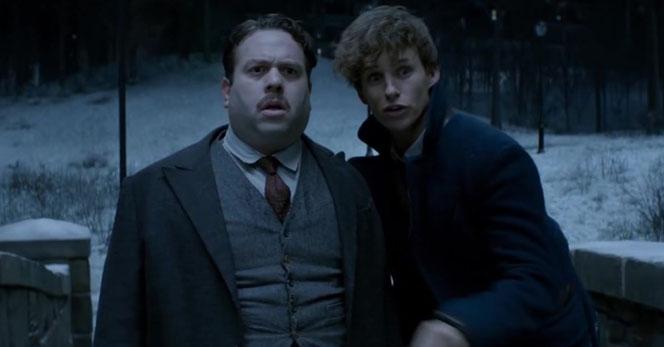 Jacob Kowalski (Dan Fogler) et Norbert Dragonneau (Eddie Redmayne) dans le troisième trailer du premier film