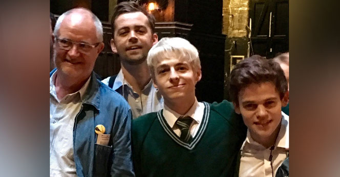 Jim Broadbent, Alex Price, Anthony Boyle et Sam Clemmett