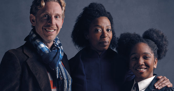 La famille Granger-Weasley avec Paul Thornley, Noma Dumezweni et Cherrelle Skeete