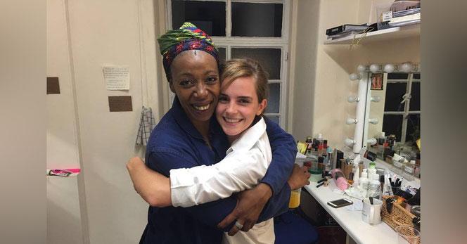 Noma Dumezweni et Emma Watson, les interprètes d'Hermione Granger (la première au théâtre, la seconde au cinéma)