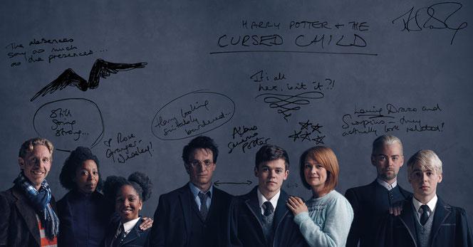 Photo des personnages annotée par JK Rowling (Source : Pottermore)