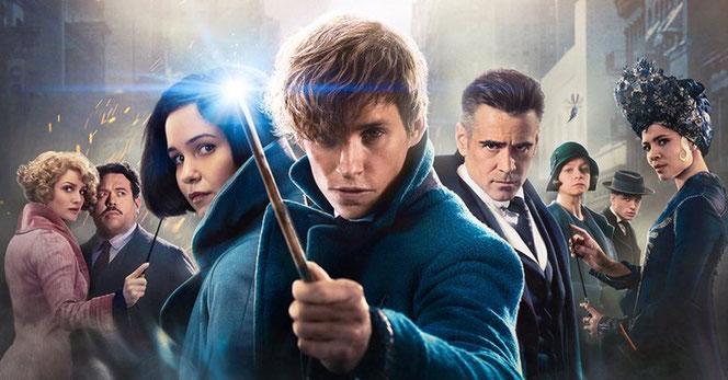 """Une partie du poster IMAX pour la sortie du film """"Les Animaux Fantastiques"""" (2016)"""