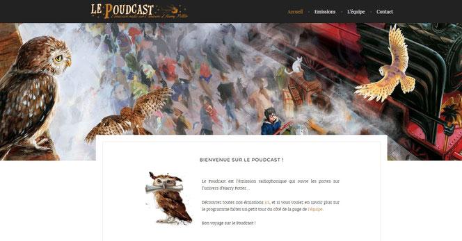 Capture d'écran du site du Poudcast (poudcast.com)