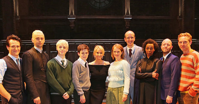 Jamie Parker, Alex Price, Anthony Boyle, Sam Clemmett, JK Rowling, Poppy Miller, Jack Thorne, Noma Dumezweni et Paul Thornley