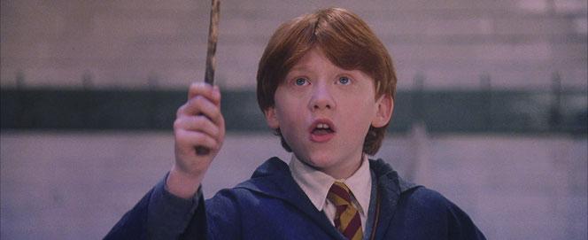 """Ron lance un """"Wingardium Leviosa"""" et assomme le troll. (Harry Potter à l'école des sorciers - 2001)"""
