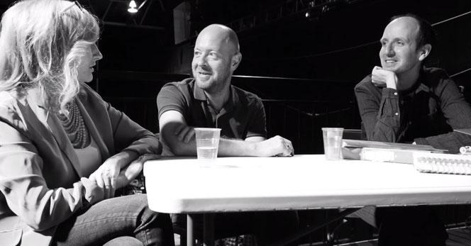 JK Rowling en compagne de John Tiffany, le metteur en scène, et Jack Thorne, auteur du script