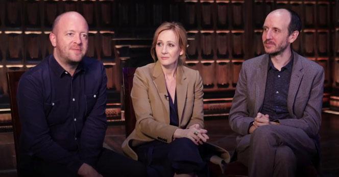 John Tiffany, JK Rowling et Jack Thorne annonçant l'arrivée de la pièce en Australie