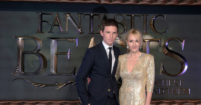 "Eddie Redmayne et JK Rowling à l'avant première européenne des ""Animaux Fantastiques"""