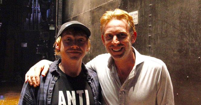 Rupert Grint a posé avec Paul Thornley qui joue le rôle de Ron Weasley dans la pièce