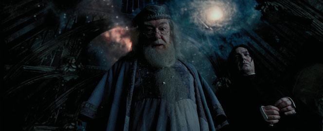 Dumbledore et Rogue dans la Grande Salle (Harry Potter et le Prisonnier d'Azkaban - 2004)