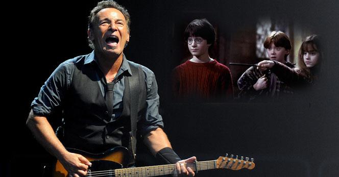 Bruce Springsteen, le 7 juin 2012 à Milan (@ANSA/DANIEL DAL ZENNARO) - Harry Potter à l'école des Sorciers (@WarnerBros)