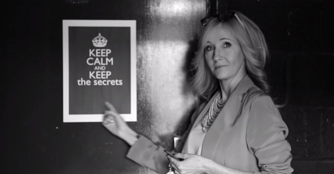 "JK Rowling demandant en Juin 2016 aux fans de ""garder le secret"" de l'intrigue"
