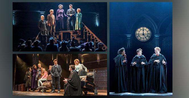 """Les acteurs de """"Harry Potter et l'Enfant Maudit"""" sur la scène du Palace Theatre"""