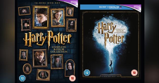 Aperçu des visuels du coffret de 16 DVD (à gauche), du coffret de 16 Blu-Ray (à droite)
