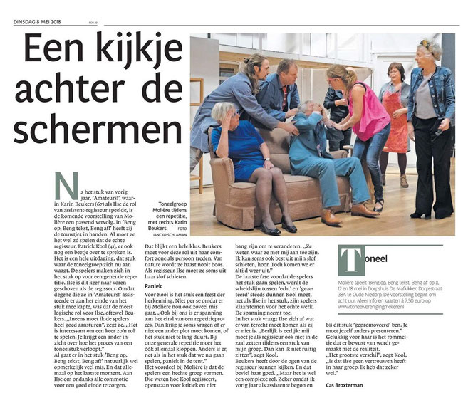 Noordhollands Dagblad 8 mei 2018