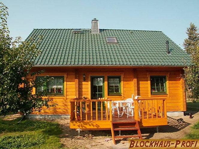 Blockhaus als Wohnhaus in Deutschland