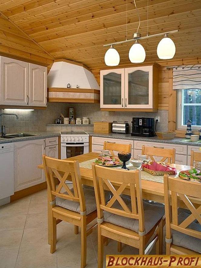 Holzhaus in Blockbauweise - Wohnküche