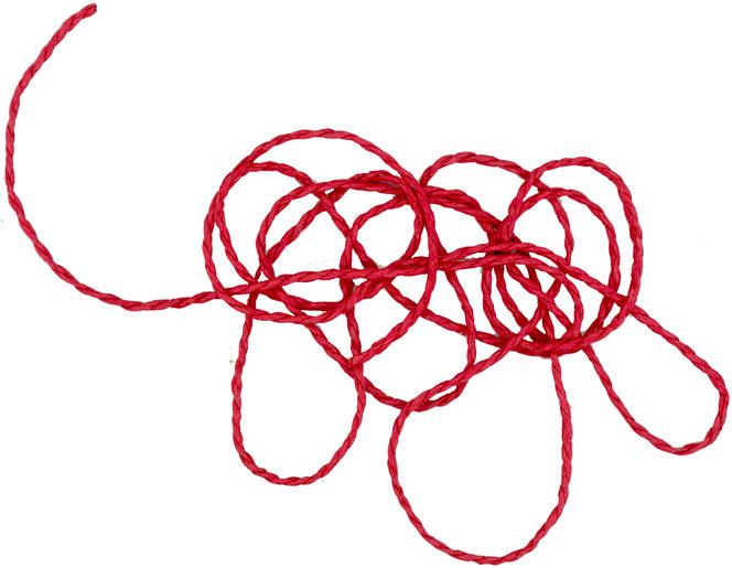 Es ist ganz einfach, dem Roten Faden meiner Ideen zu folgen. Man muss es nur wollen.