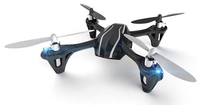 Hubsan X4 H107L - a typical representative of the family of small amateur radio controlled quadrocopter