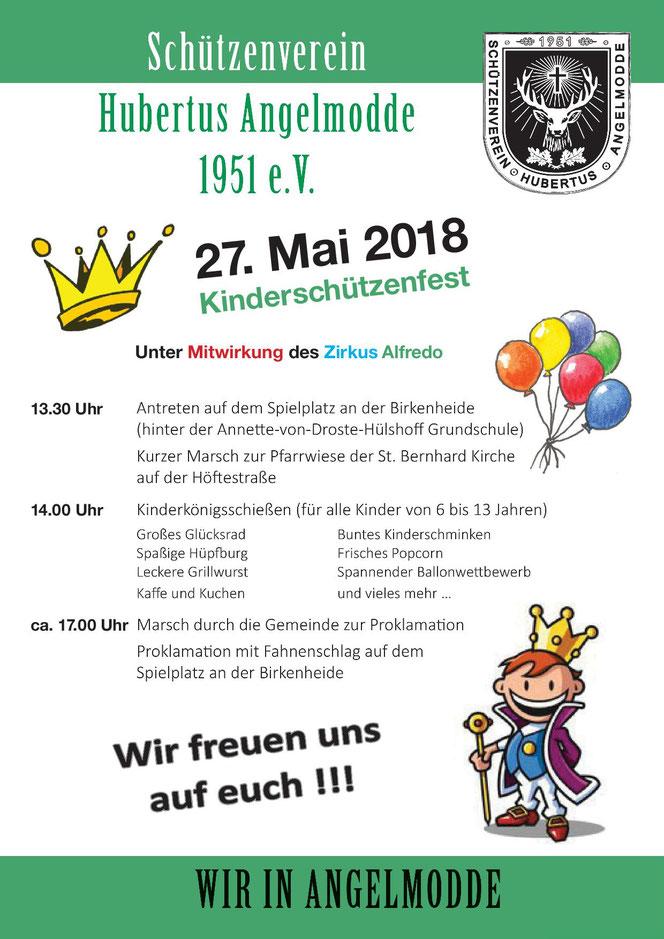 Programm des Kinderschützenfests 2018