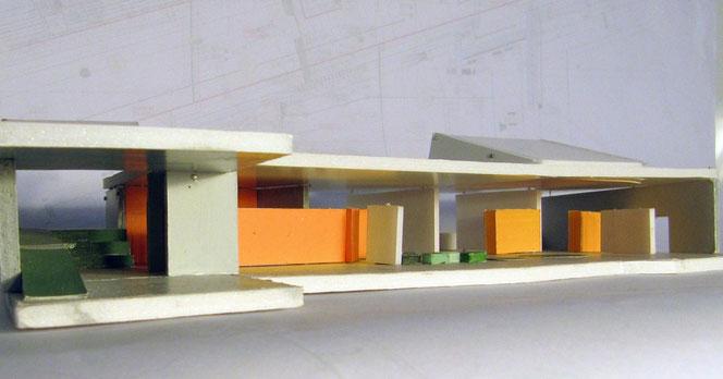 Cluster und Dorfstraße; Modell